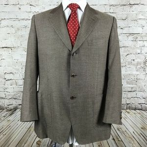 Men's Canali Three Button Sport Coat Size 42R Silk